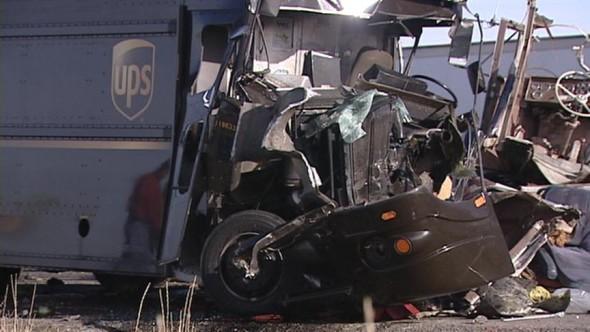 Crashing UPS van
