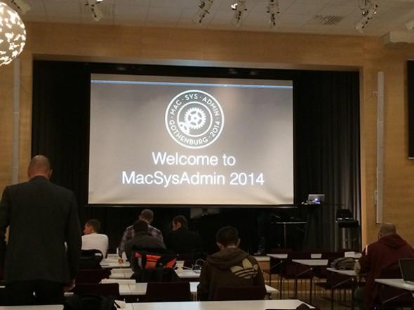 Opening MacSysAdmin 2014
