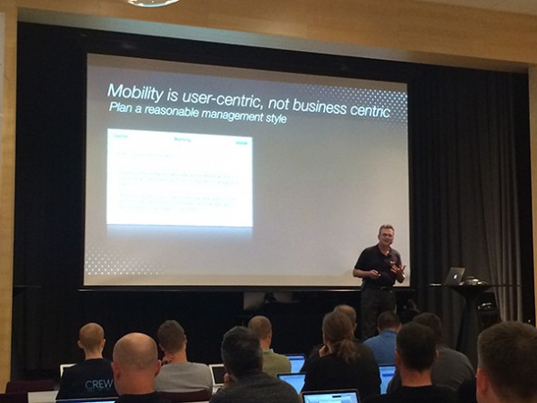 Mobility is user centric, not business centric