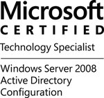 MCTS-WinSvr08ActDirConfig-logo-BW